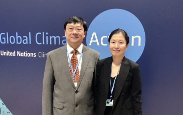 CCCI Director Fan Dai with Director General Li Gao, Dept. of Climate Change, Ministry of Ecology and Environment